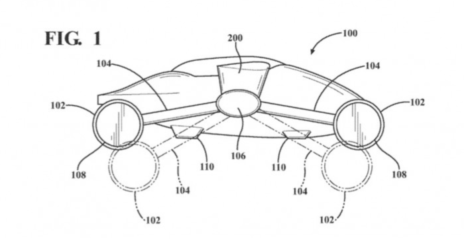 toyota patents flying car design